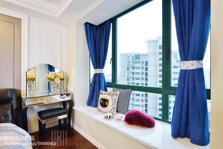 精美122平简约三居装修图卧室