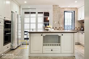 热门114平米美式别墅厨房装饰图