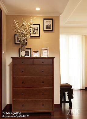 轻奢79平美式二居玄关设计案例玄关美式经典设计图片赏析
