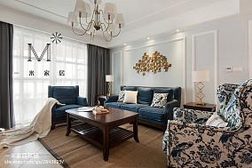 精选面积77平美式二居客厅装修实景图片大全