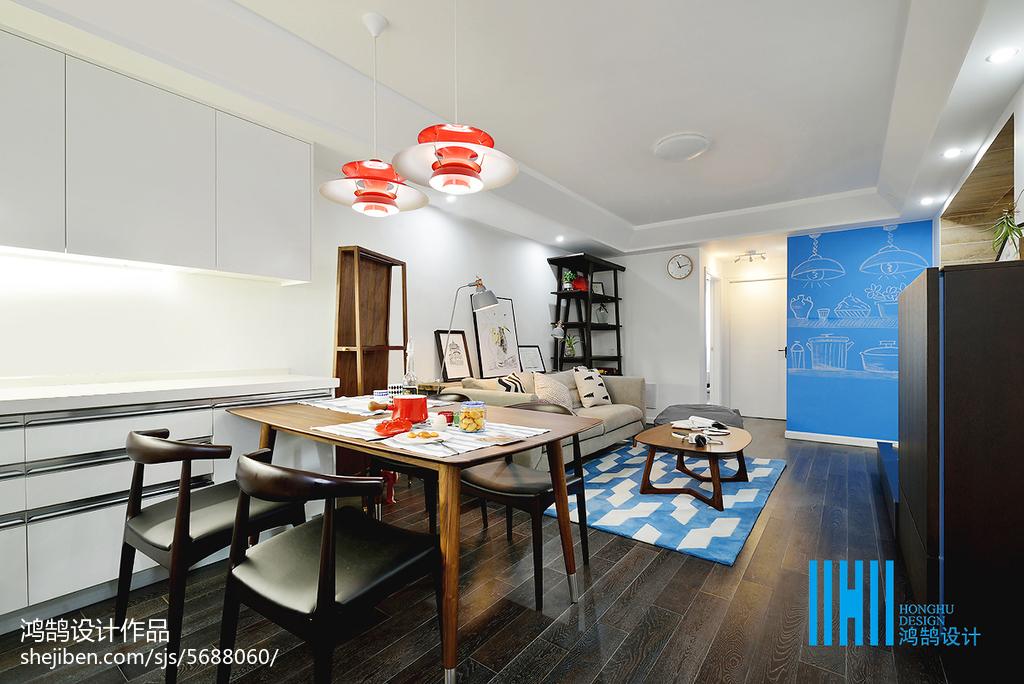 平米二居客厅北欧效果图片大全客厅北欧极简客厅设计图片赏析
