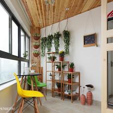 精选面积92平日式三居阳台装修设计效果图片