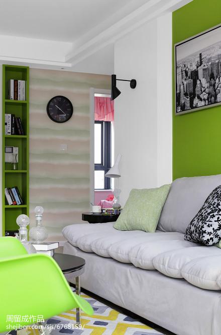 精美72平米二居客厅现代效果图片客厅2图