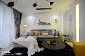 精选大小108平现代三居客厅效果图