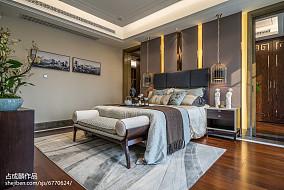2018精选中式卧室效果图片大全样板间中式现代家装装修案例效果图