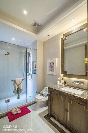 2018精选卫生间中式装修设计效果图样板间中式现代家装装修案例效果图