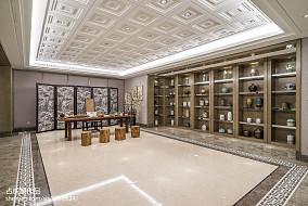优美301平中式样板间效果图片大全样板间中式现代家装装修案例效果图