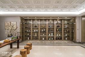 轻奢292平中式样板间装修效果图样板间中式现代家装装修案例效果图