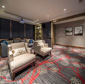明亮295平中式样板间装饰美图样板间中式现代家装装修案例效果图