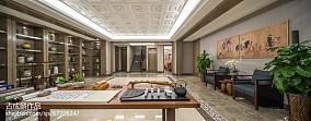 优美306平中式样板间设计美图样板间中式现代家装装修案例效果图