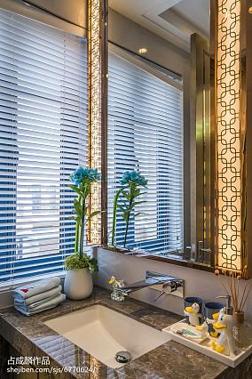 2018精选卫生间中式装修效果图片样板间中式现代家装装修案例效果图