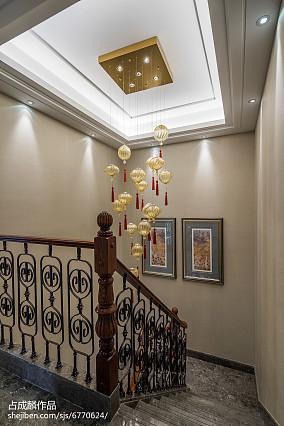 平中式样板间设计案例样板间中式现代家装装修案例效果图