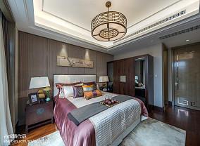 温馨277平中式样板间卧室设计美图样板间中式现代家装装修案例效果图