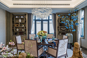 2018精选中式餐厅装修效果图片大全样板间中式现代家装装修案例效果图