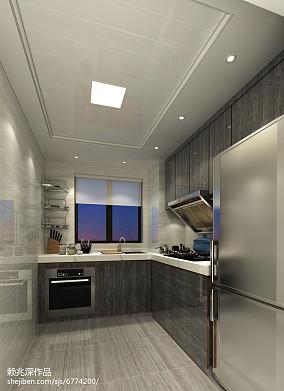 半开放式厨房吧台装修效果图片