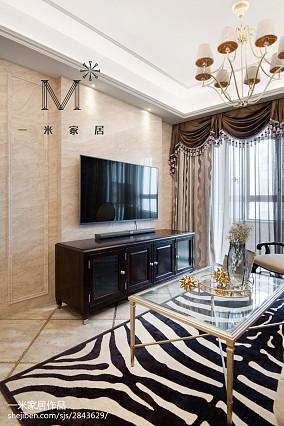 精美76平方二居客厅美式效果图片欣赏二居美式经典家装装修案例效果图