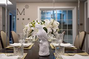 热门70平米二居餐厅美式实景图片大全家装装修案例效果图