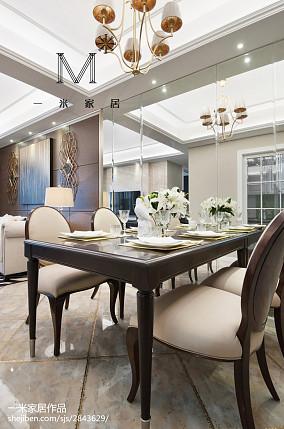 热门美式二居餐厅效果图片欣赏二居美式经典家装装修案例效果图