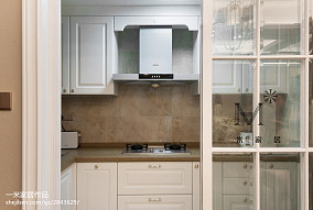 2018精选二居厨房美式装修设计效果图片二居美式经典家装装修案例效果图