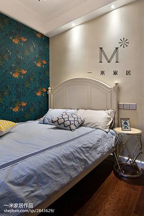 精选74平米二居卧室美式实景图二居美式经典家装装修案例效果图