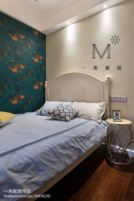 精选74平米二居卧室美式实景图