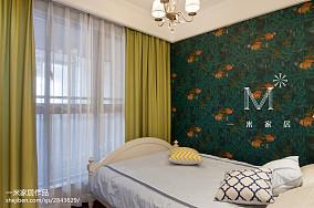 面积84平美式二居卧室欣赏图片二居美式经典家装装修案例效果图