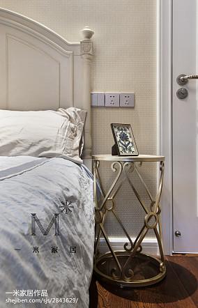精美面积82平美式二居卧室欣赏图片大全二居美式经典家装装修案例效果图