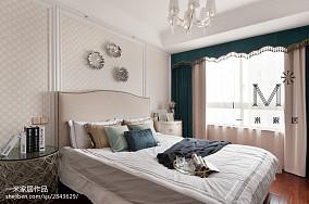 精美83平米二居卧室美式设计效果图二居美式经典家装装修案例效果图