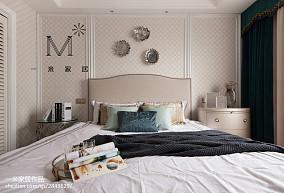 平美式二居卧室装潢图二居美式经典家装装修案例效果图