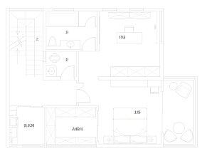 华丽78平现代复式客厅美图复式现代简约家装装修案例效果图