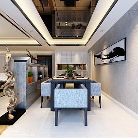热门100平米三居餐厅简约装修图片大全