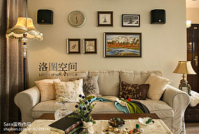 平米美式复式客厅实景图片大全复式美式经典家装装修案例效果图