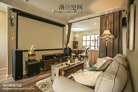 热门面积124平复式客厅美式装修图复式美式经典家装装修案例效果图