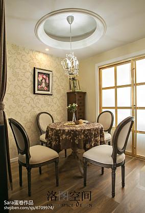 热门复式餐厅美式装修欣赏图复式美式经典家装装修案例效果图