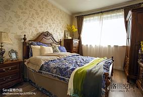 精美面积139平复式卧室美式装修图片大全复式美式经典家装装修案例效果图