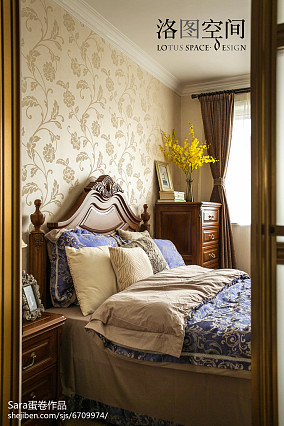 精美117平米美式复式卧室实景图复式美式经典家装装修案例效果图