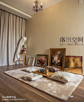 精选134平米美式复式休闲区实景图片大全复式美式经典家装装修案例效果图