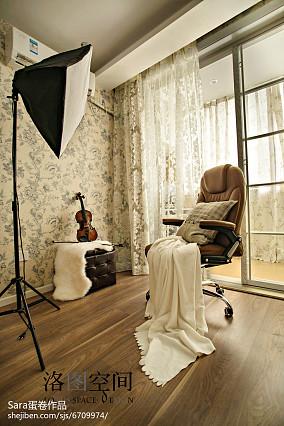 美式格调家装书房设计图复式美式经典家装装修案例效果图