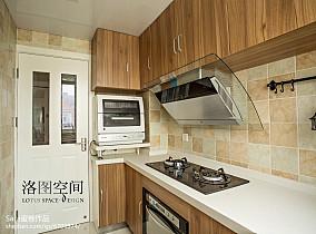 精美美式复式厨房欣赏图片大全复式美式经典家装装修案例效果图