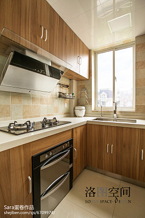 精选144平米美式复式厨房装修效果图片大全复式美式经典家装装修案例效果图