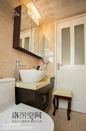 精美面积134平复式卫生间美式装修实景图复式美式经典家装装修案例效果图