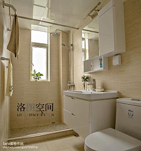 2018复式卫生间美式装修设计效果图片复式美式经典家装装修案例效果图