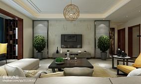 现代简约四居室客厅电视墙图片