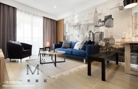 大气93平现代二居装修设计图二居现代简约家装装修案例效果图