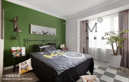 精美90平米二居卧室现代装修效果图片欣赏