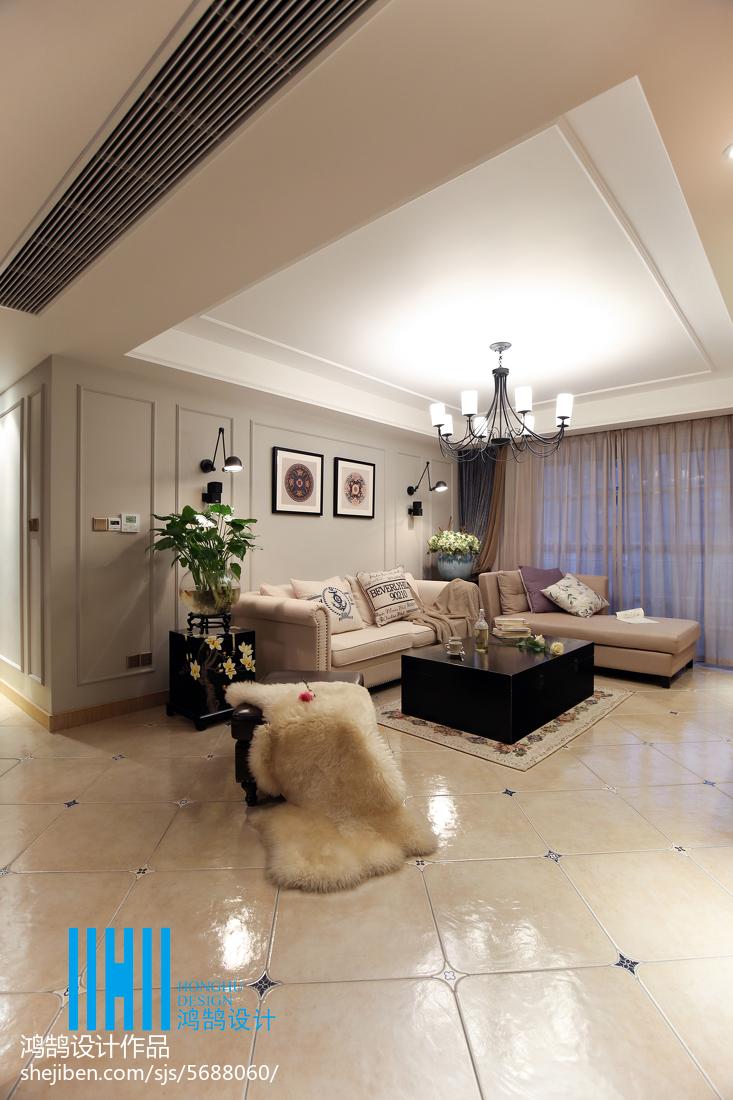 悠雅93平混搭三居效果图客厅潮流混搭客厅设计图片赏析