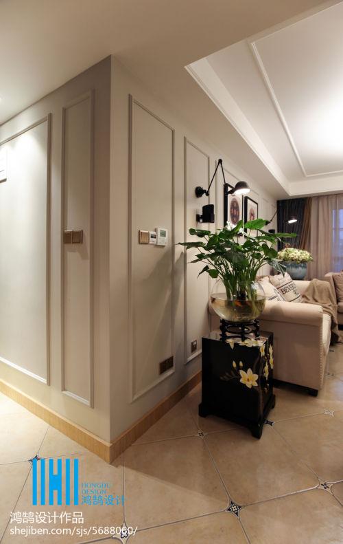 热门91平米3室混搭装修图片大全客厅窗帘4图