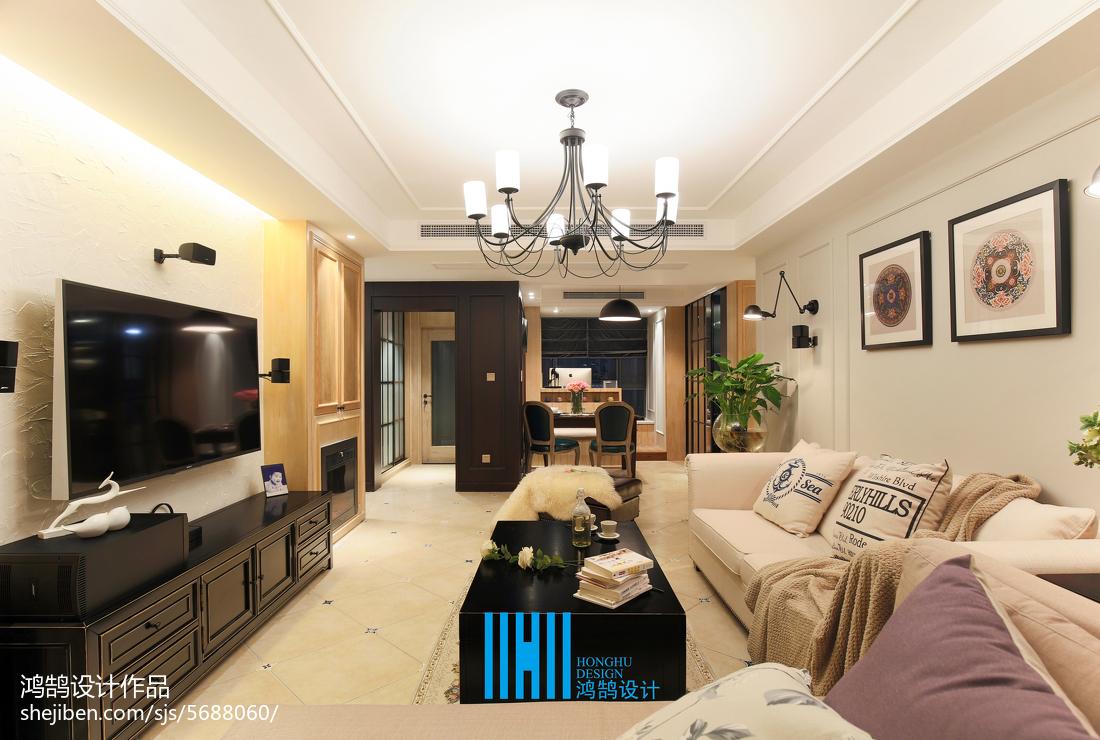 2018混搭3室装修欣赏图片大全93平客厅潮流混搭客厅设计图片赏析
