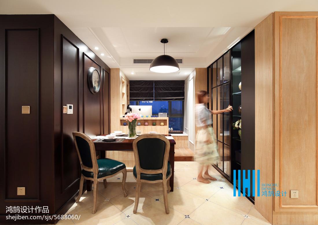 2018面积103平混搭三居餐厅实景图片欣赏厨房潮流混搭餐厅设计图片赏析