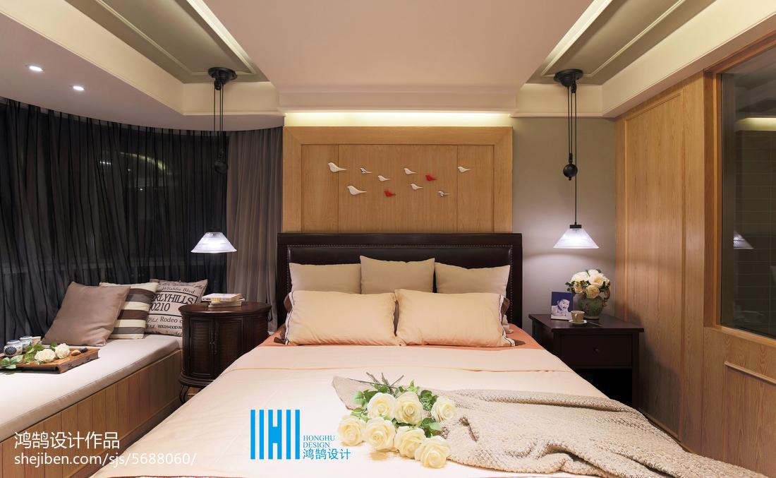 热门面积94平混搭三居卧室装修图卧室床潮流混搭卧室设计图片赏析